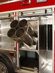 Flip-Out Compartment SCBA holder
