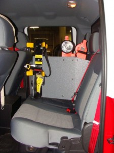 Rear Bench Seat SCBA Mount