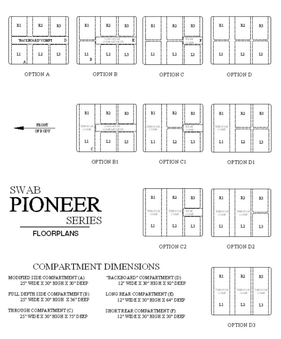 pioneer series emergency response vehicle floor plans